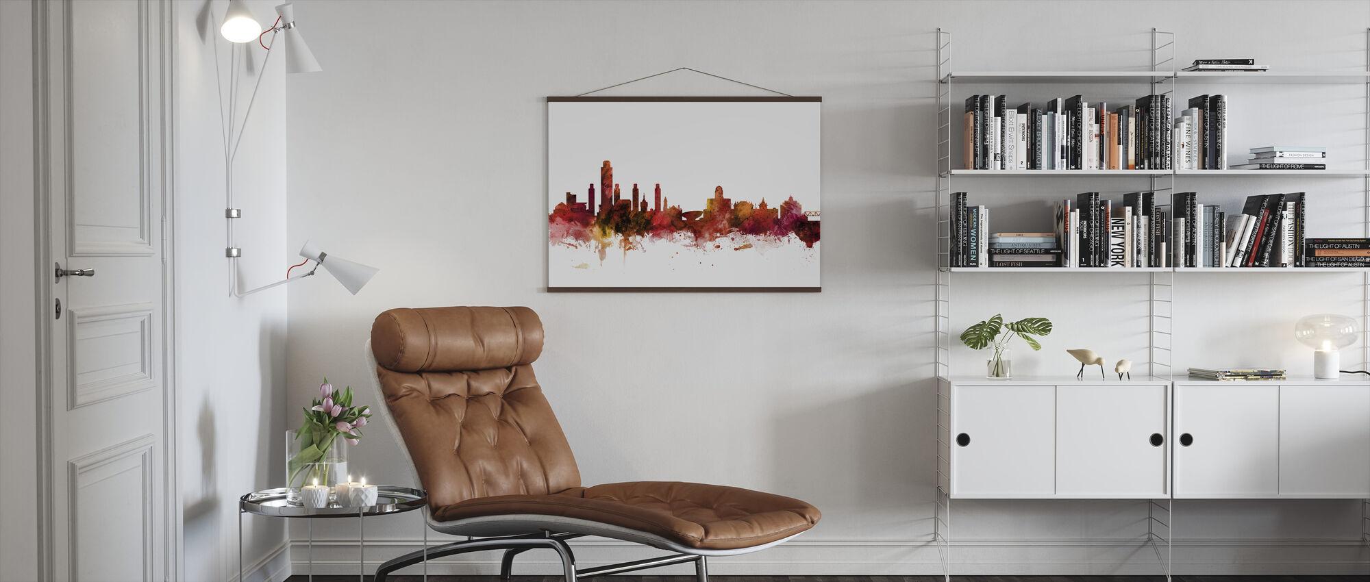 Albany New York Skyline - Poster - Living Room