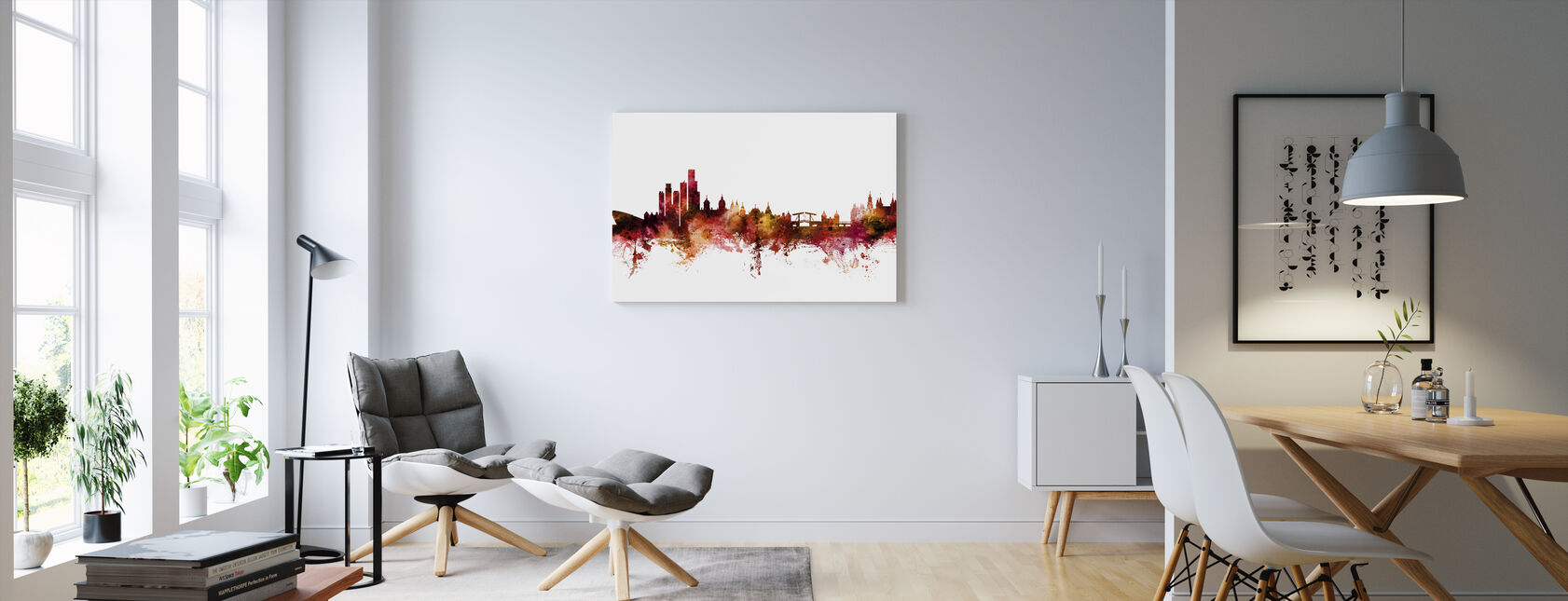 Amsterdam The Netherlands Skyline - Canvas print - Living Room