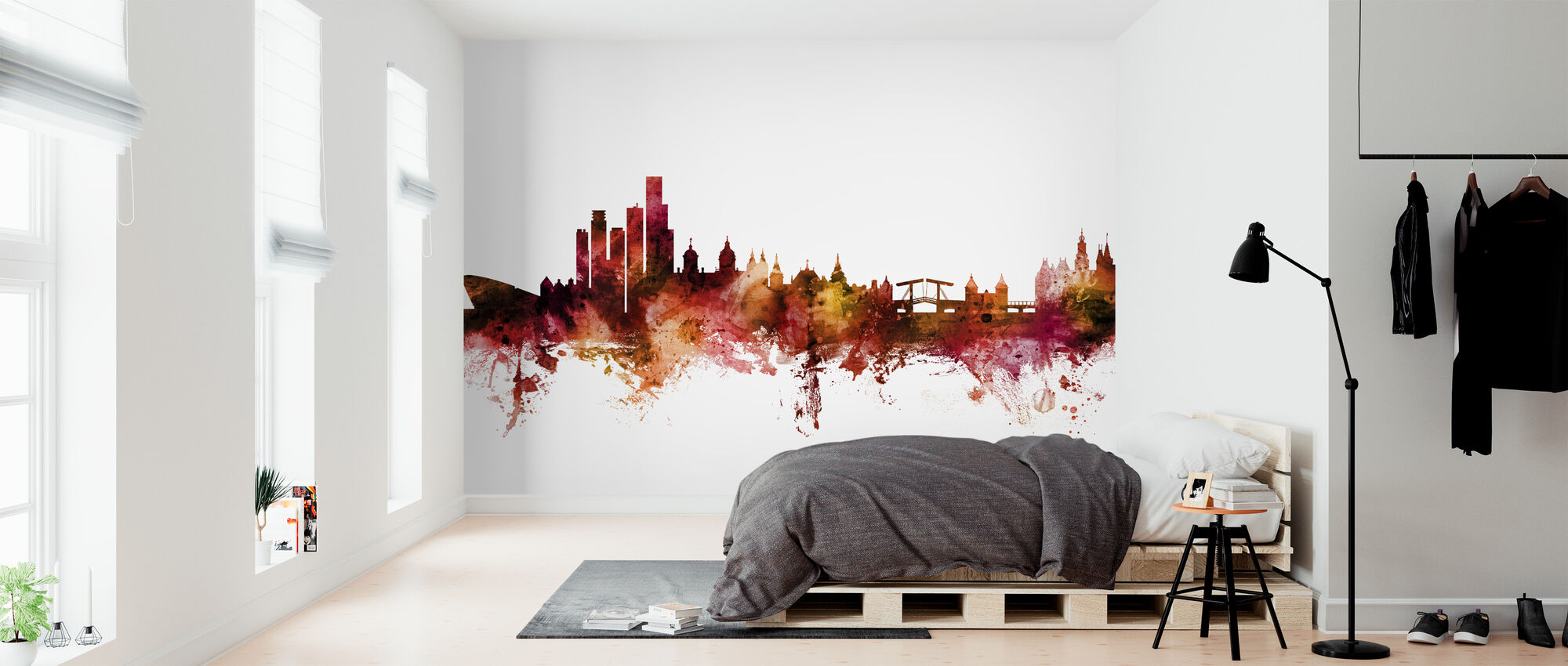 Amsterdam The Netherlands Skyline - Wallpaper - Bedroom