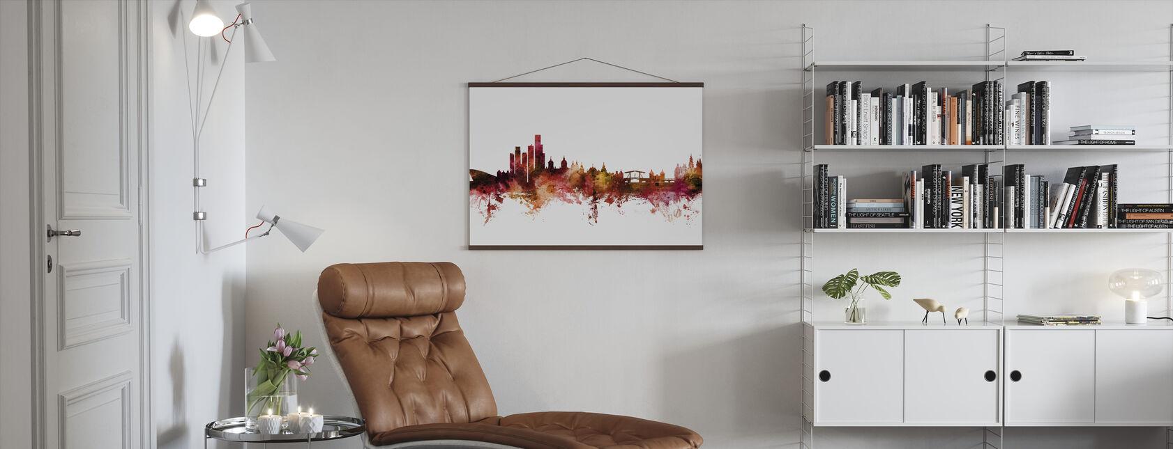 Amsterdam de Nederlandse Skyline - Poster - Woonkamer