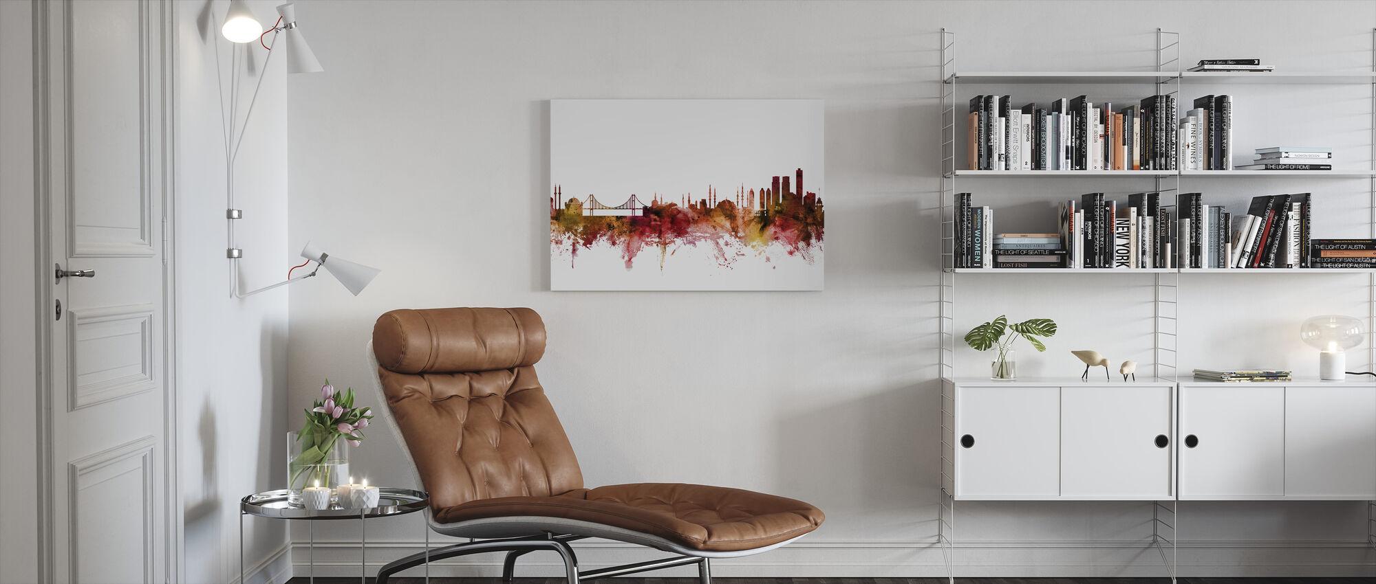 Skyline van Istanboel Turkije - Canvas print - Woonkamer