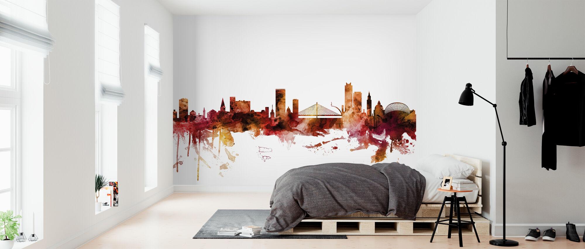 Liege Belgium Skyline - Wallpaper - Bedroom