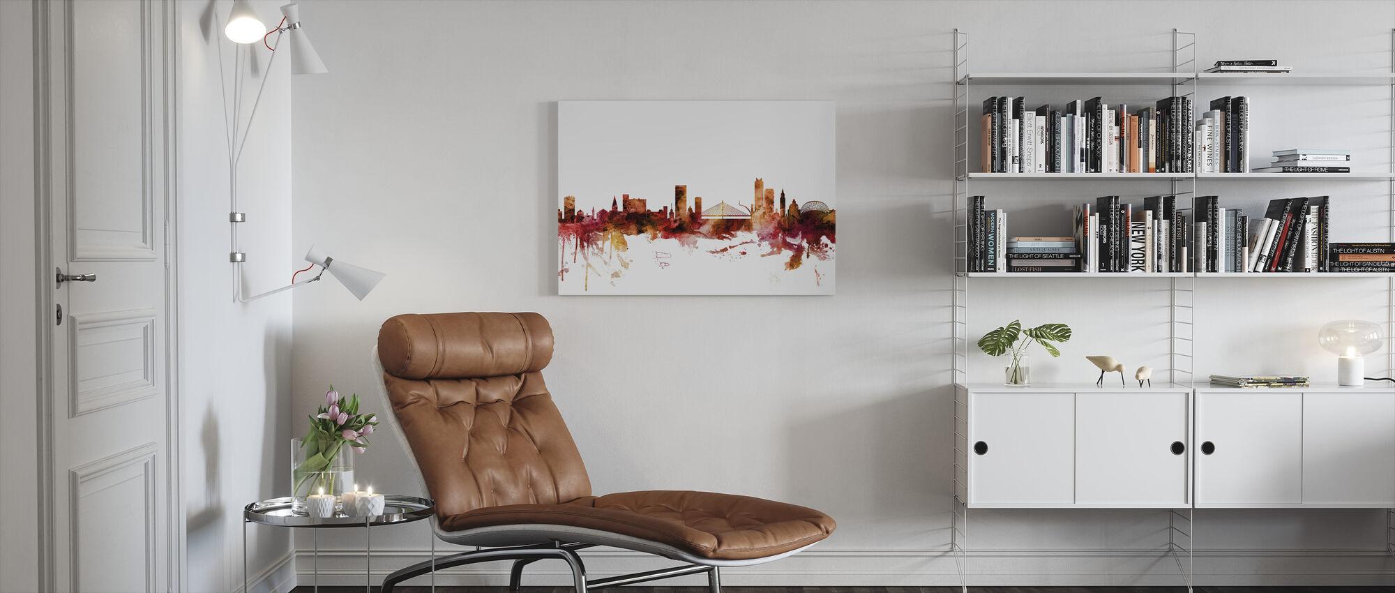 Liege Belgium Skyline - Canvas print - Living Room