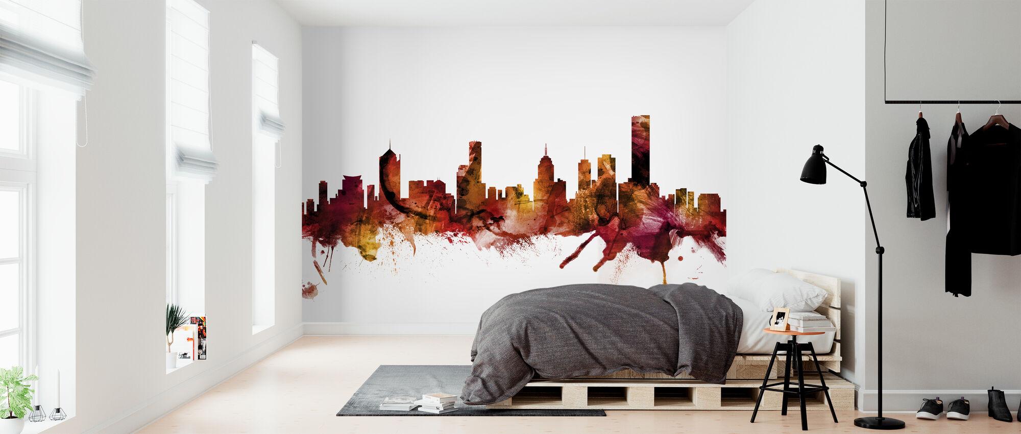 Melbourne Australia Skyline - Wallpaper - Bedroom