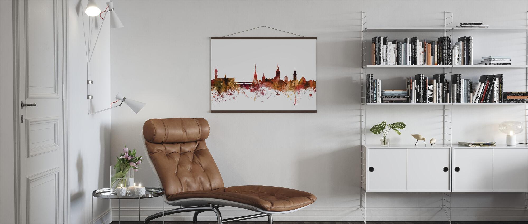 Stockholm Sweden Skyline - Poster - Living Room