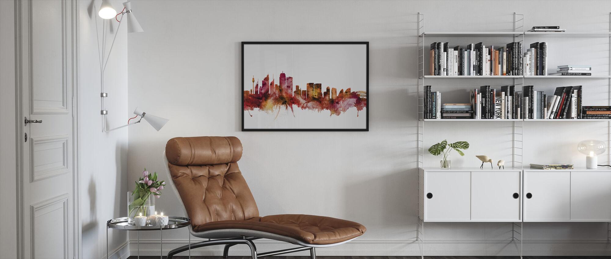 Sydney Harbour - Innrammet bilde - Stue