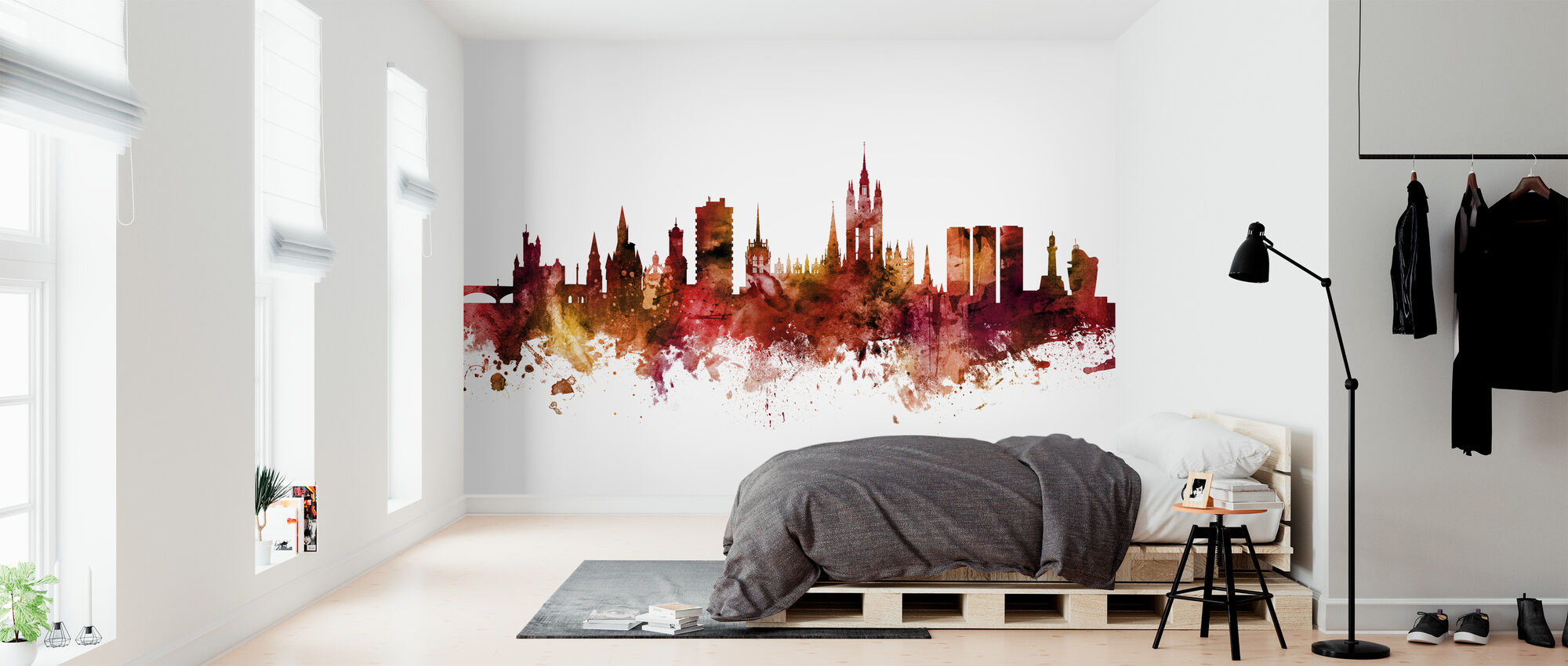 Aberdeen Scotland Skyline - Wallpaper - Bedroom