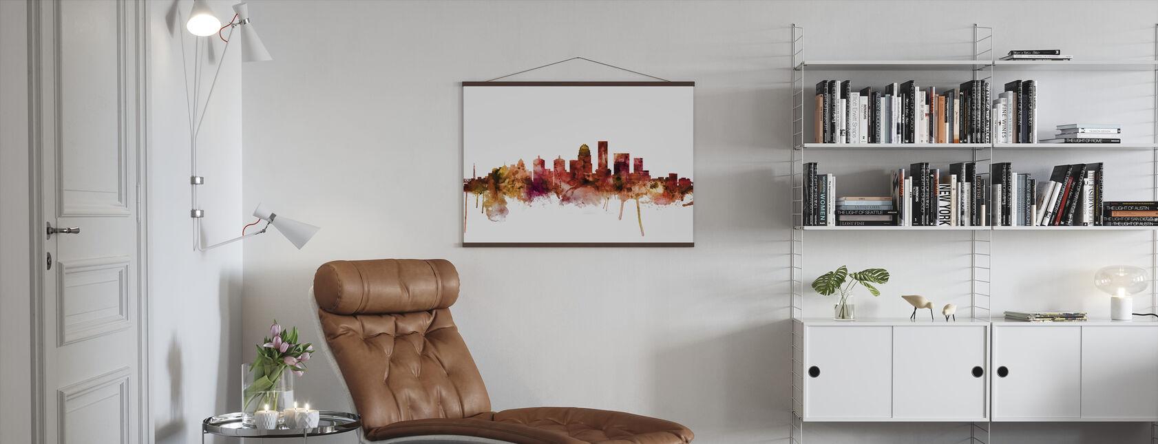 Louisville Kentucky City Skyline - Poster - Living Room