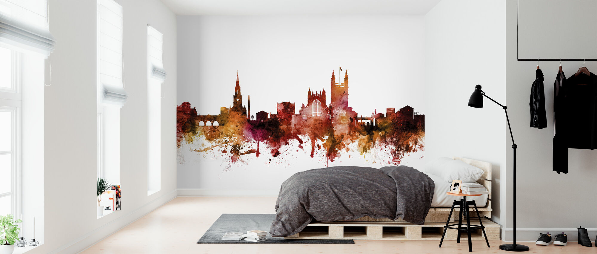Bath England Skyline Cityscape - Wallpaper - Bedroom