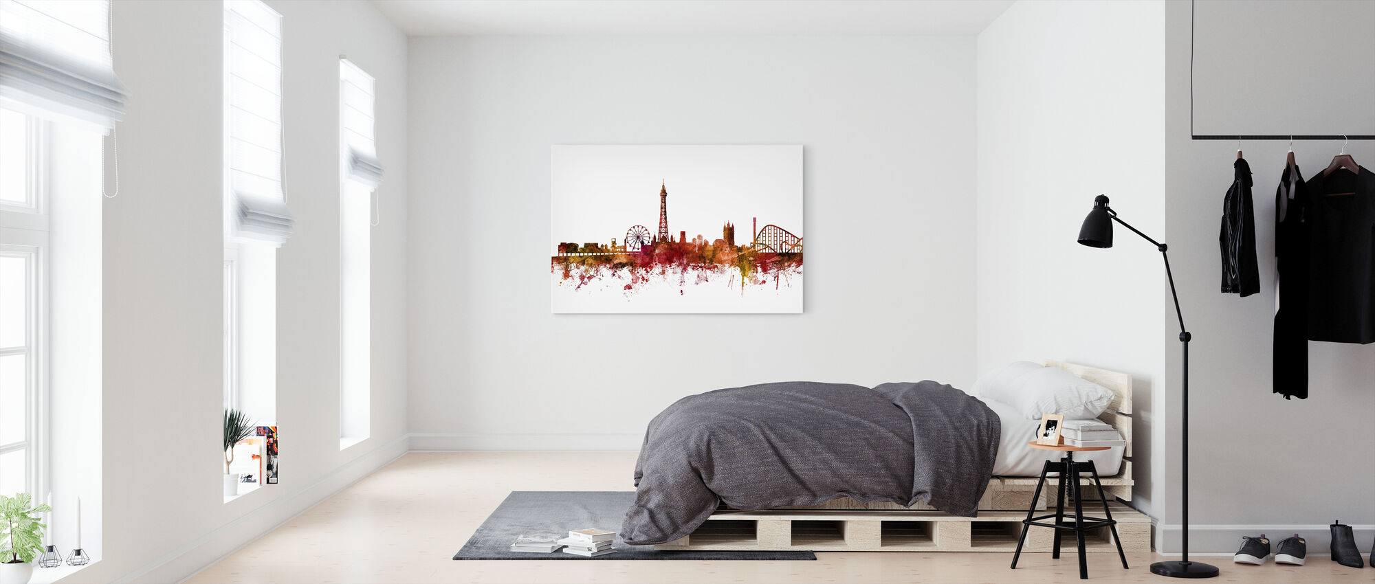 Blackpool England Skyline - Canvas print - Bedroom