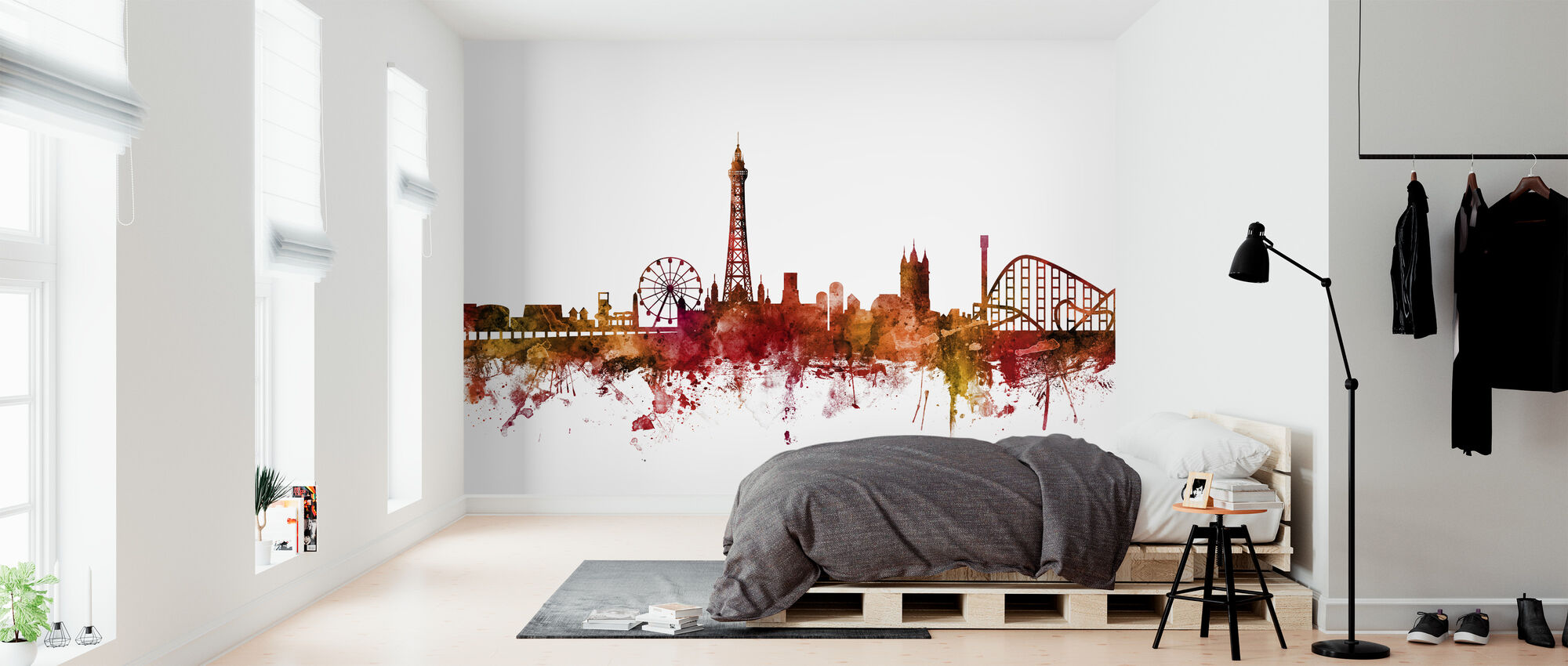 Blackpool England Skyline - Wallpaper - Bedroom