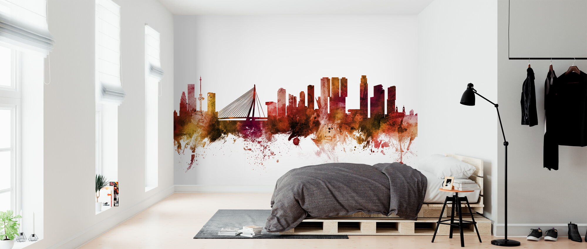Rotterdam The Netherlands Skyline - Wallpaper - Bedroom