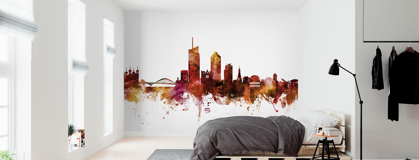Lyon France Skyline - Wallpaper - Bedroom
