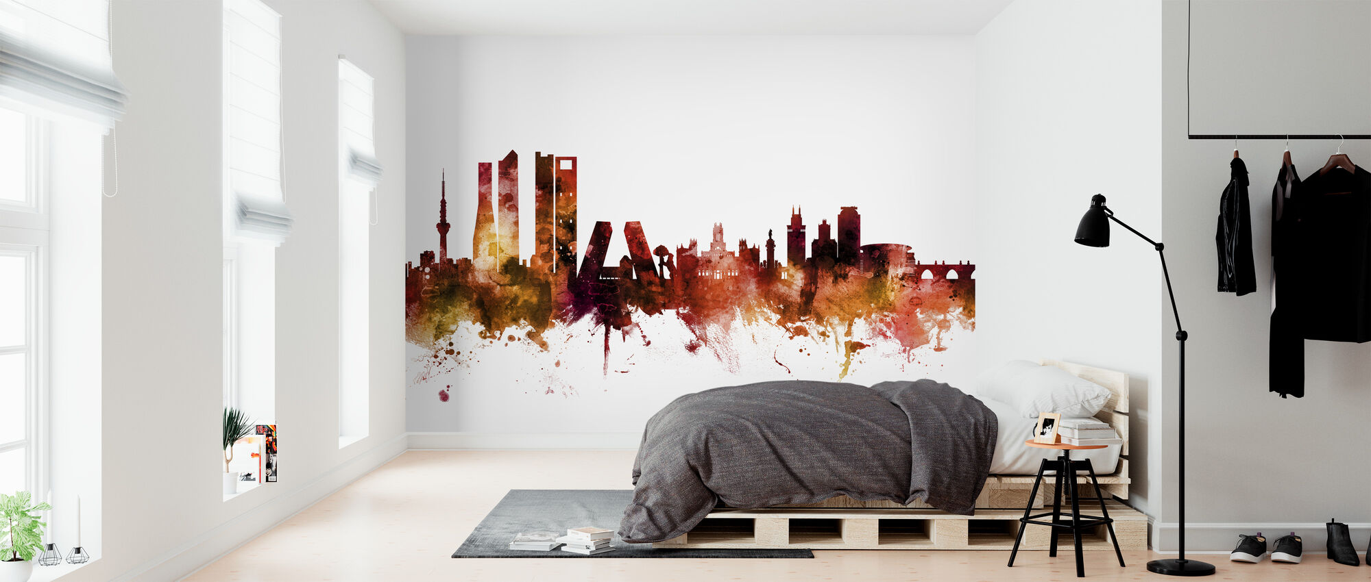 Madrid Spain Skyline - Wallpaper - Bedroom