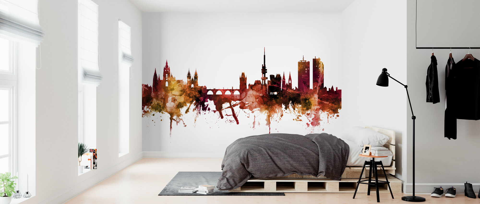 Prague (Praha) Czech Republic Skyline - Wallpaper - Bedroom