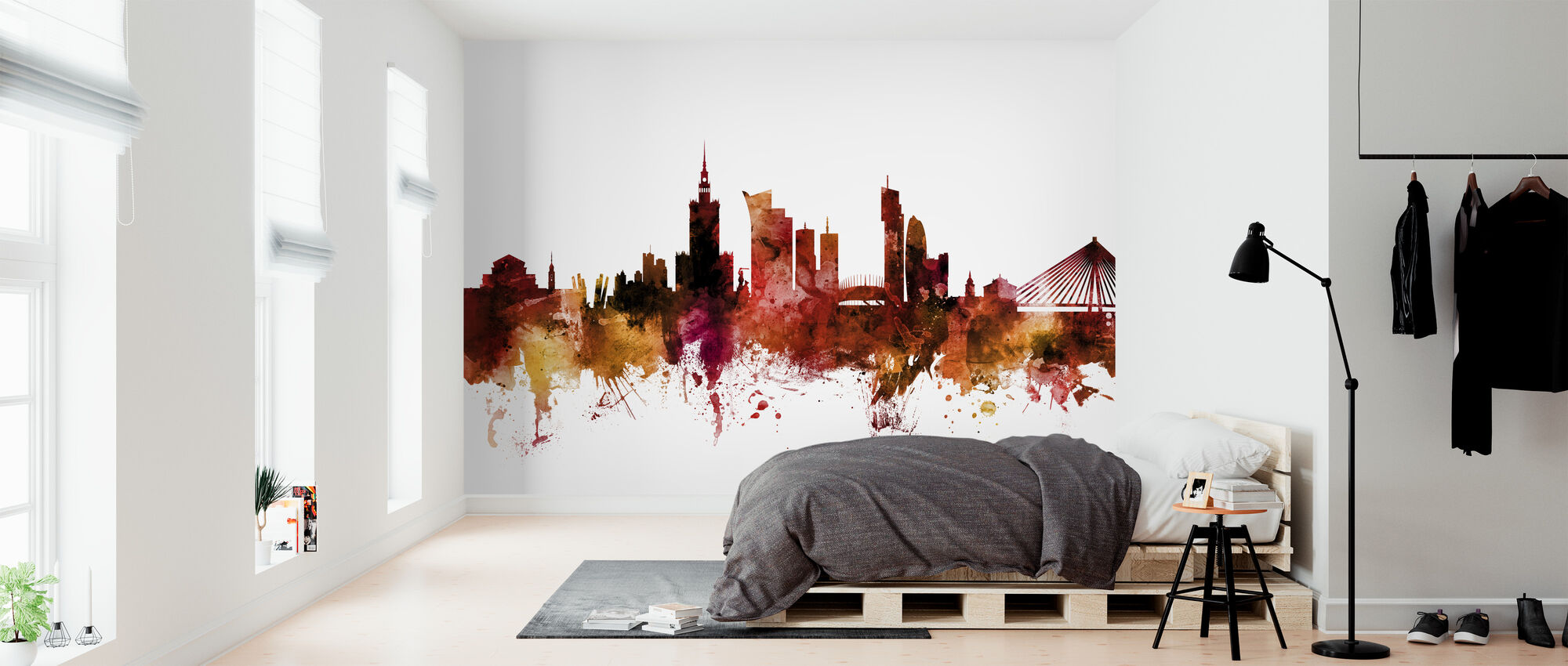 Warsaw Poland Skyline - Wallpaper - Bedroom