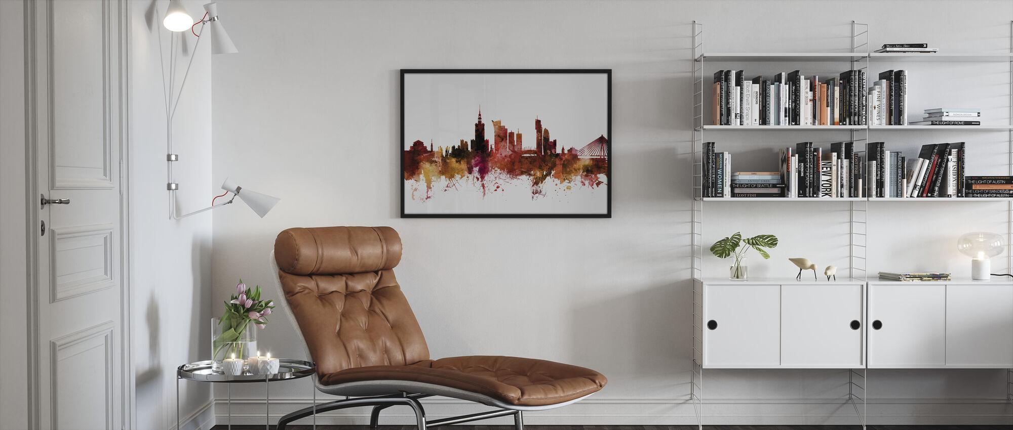 Warsaw Poland Skyline - Framed print - Living Room