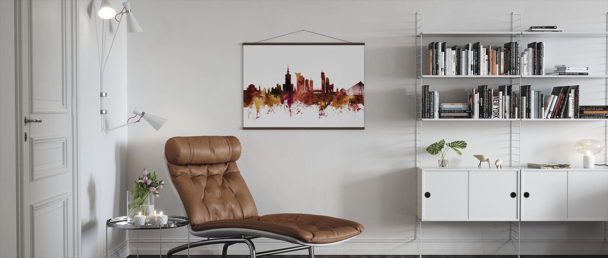 Warsaw Poland Skyline - Poster - Living Room