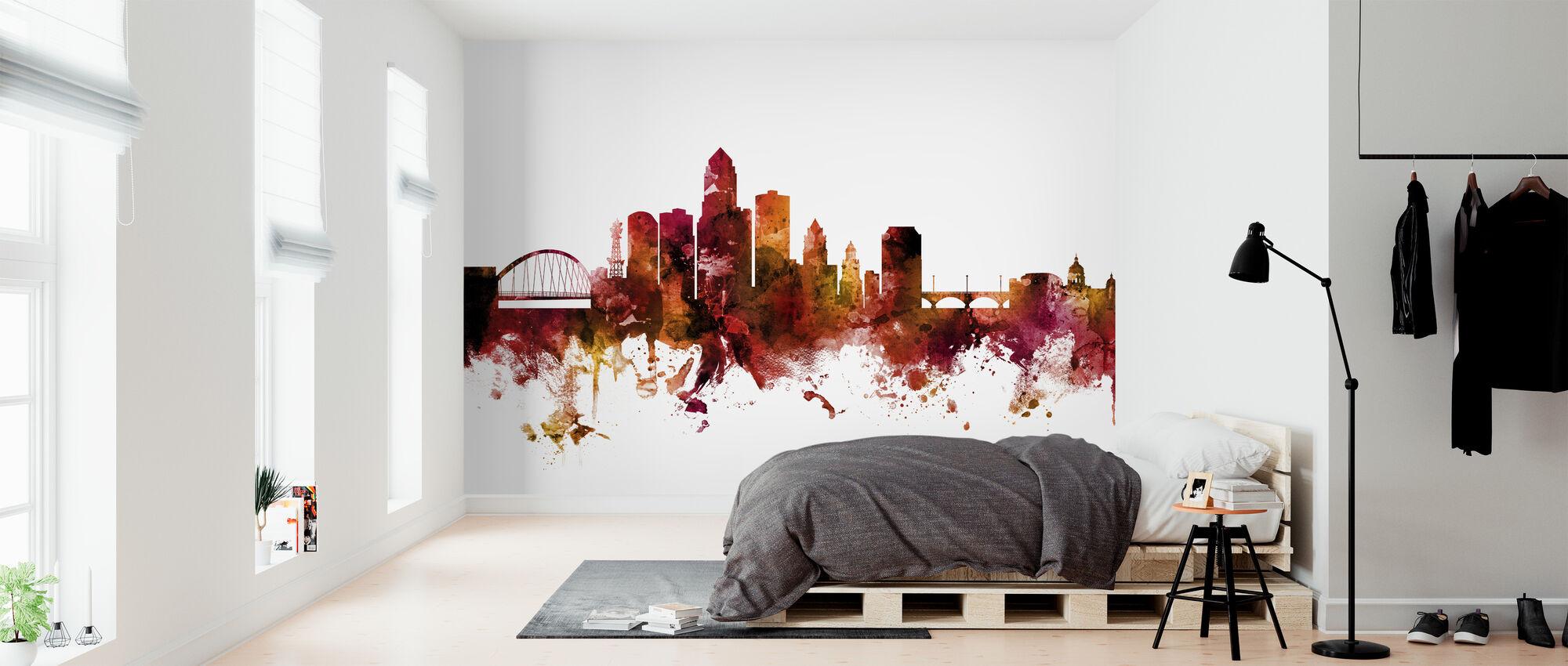 Des Moines Iowa Skyline - Wallpaper - Bedroom