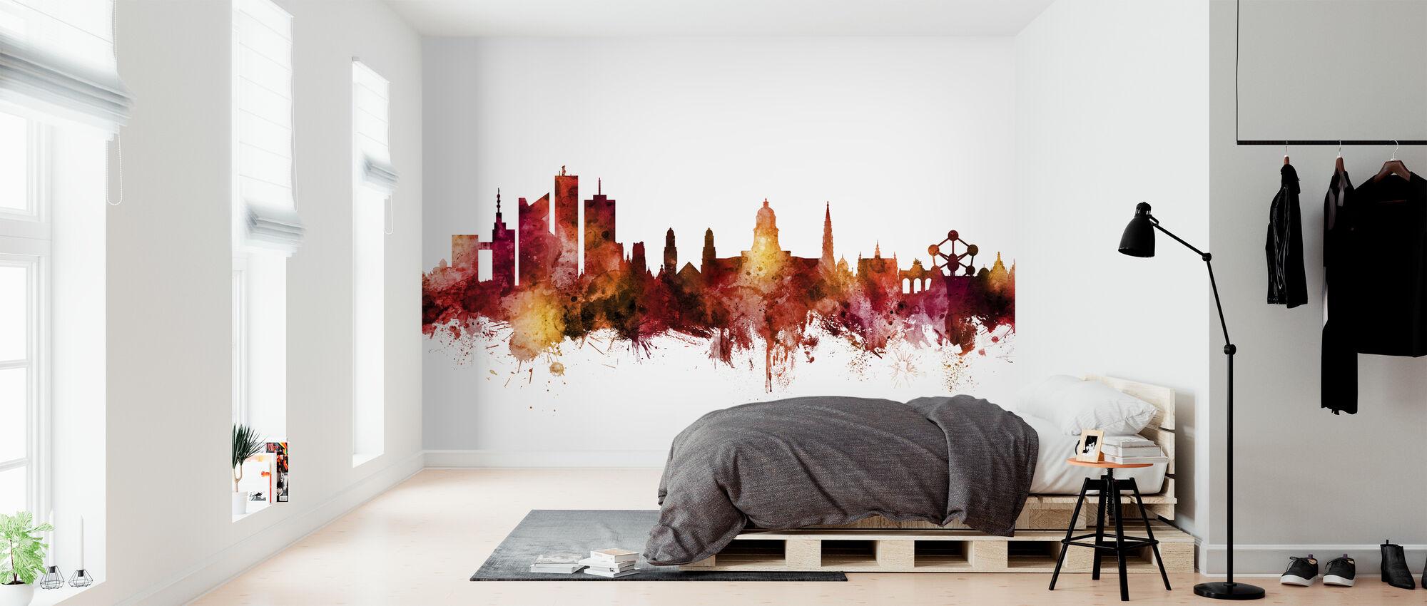 Brussels Belgium Skyline - Wallpaper - Bedroom