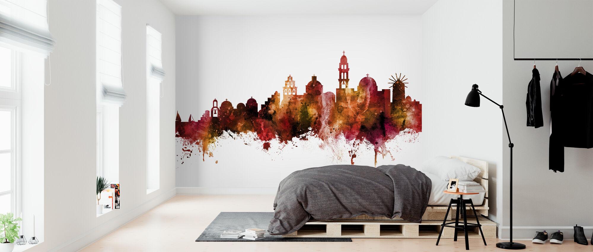 Santorini Skyline - Wallpaper - Bedroom