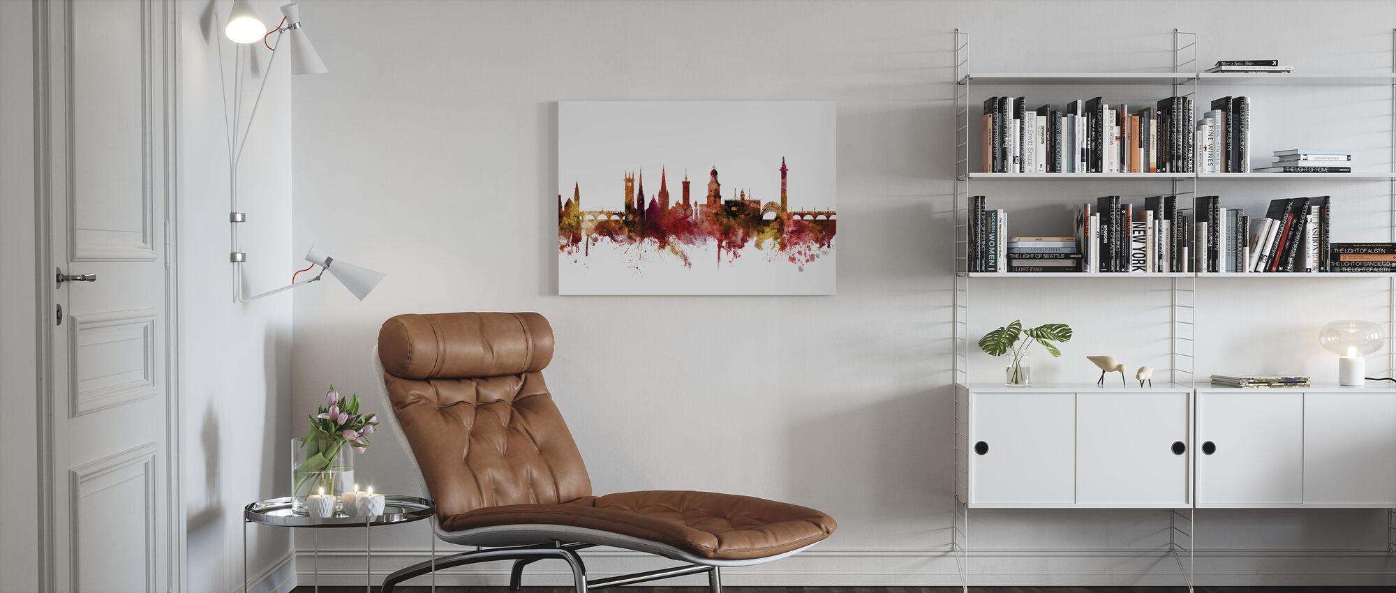Shrewsbury England Skyline - Canvas print - Living Room