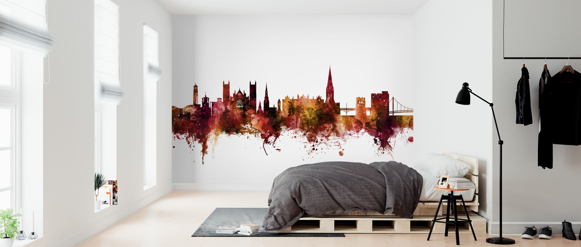 Exeter England Skyline - Wallpaper - Bedroom