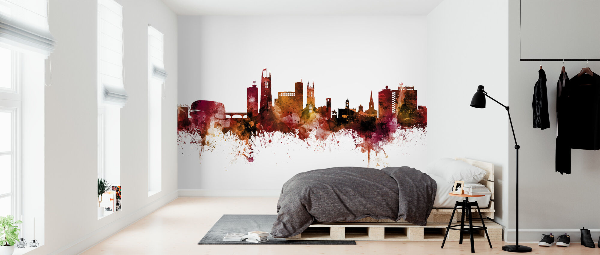 Derby England Skyline - Wallpaper - Bedroom