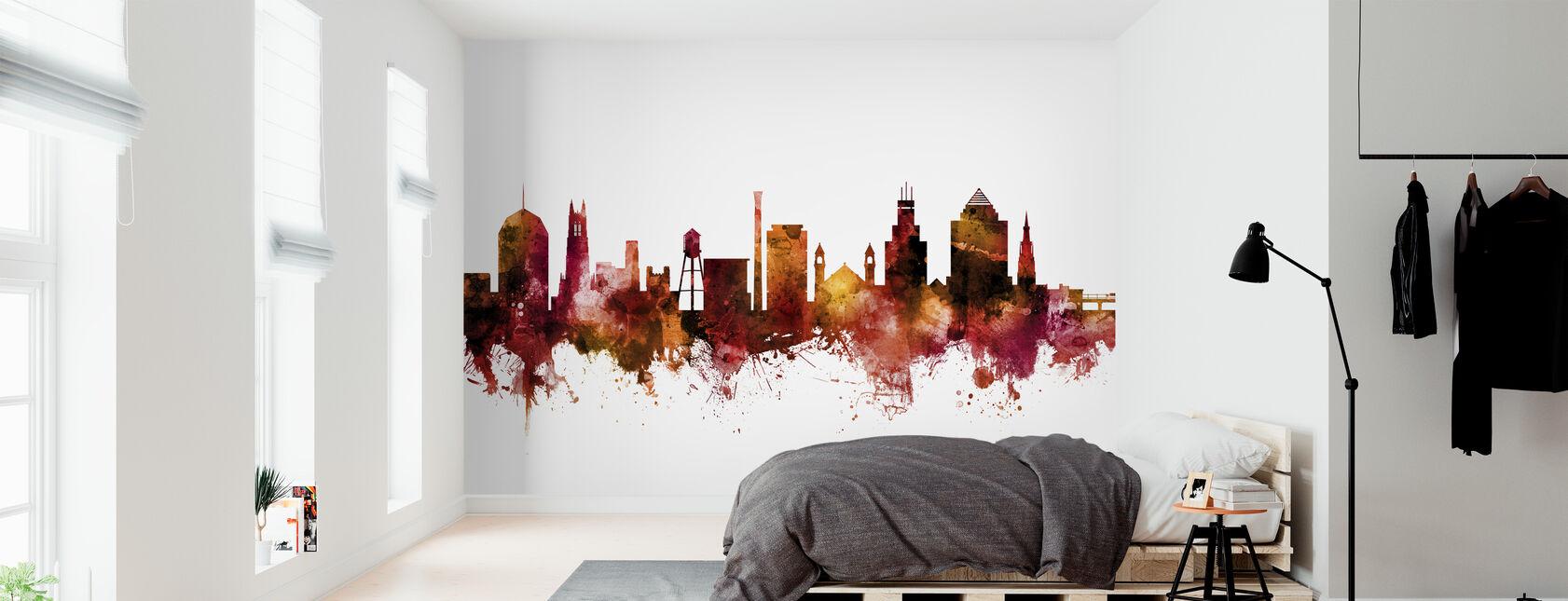 Durham North Carolina Skyline - Wallpaper - Bedroom