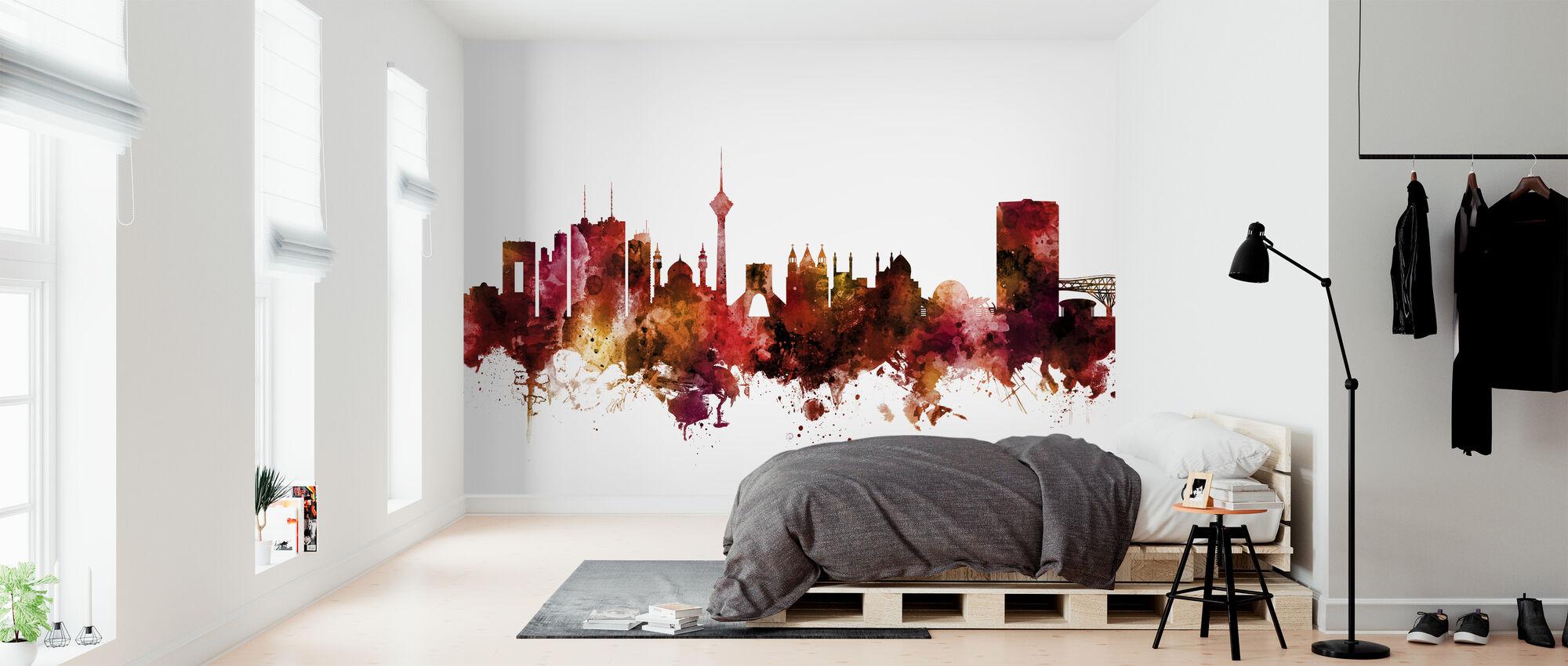 Tehran Iran Skyline - Wallpaper - Bedroom