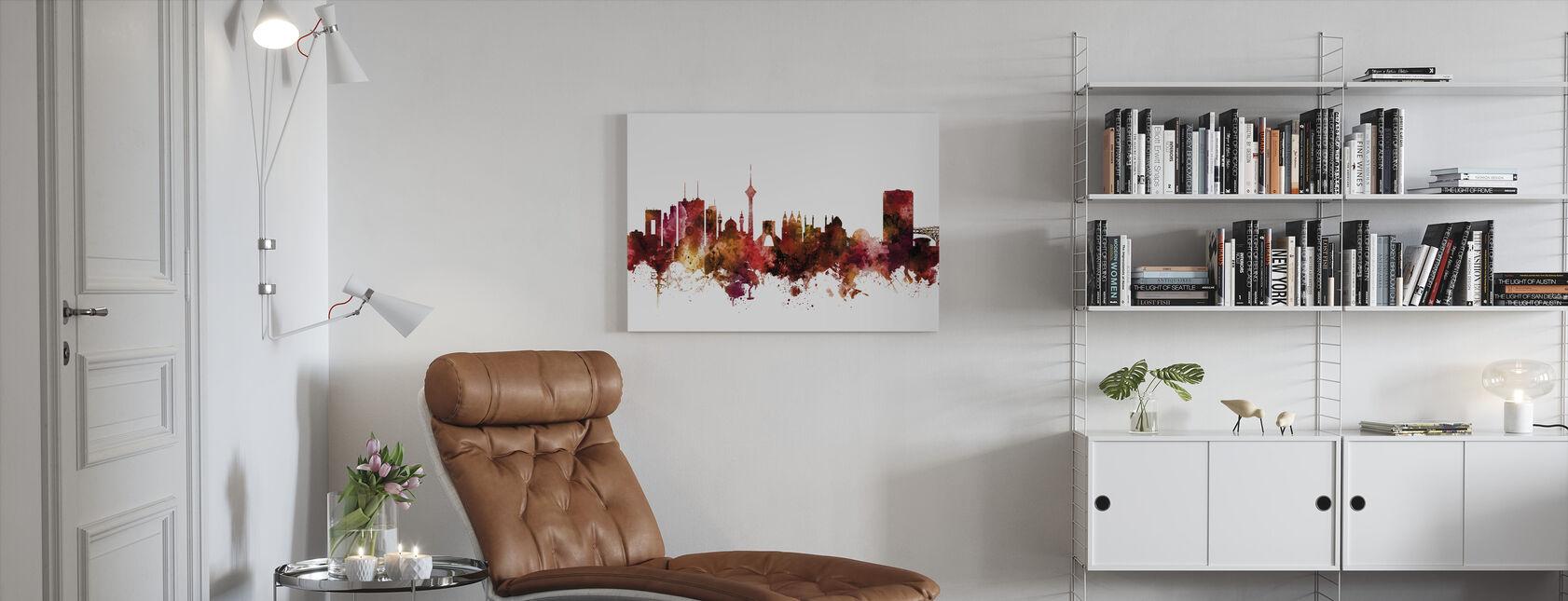 Skyline van Teheran Iran - Canvas print - Woonkamer