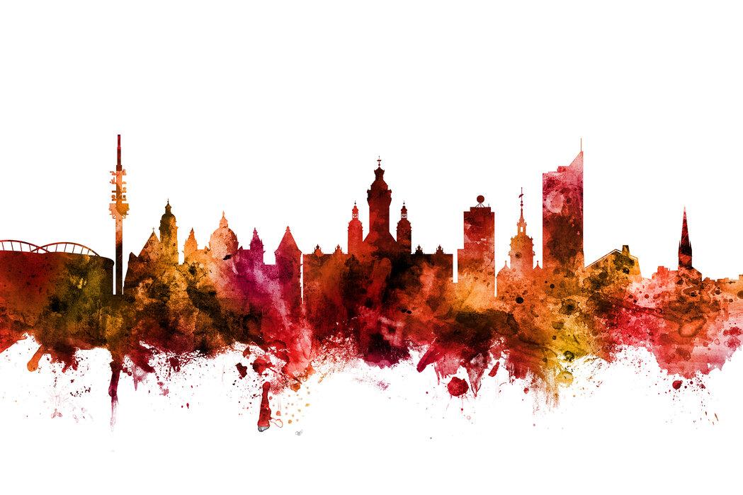 Leipzig Germany Skyline High Quality Poster Photowall