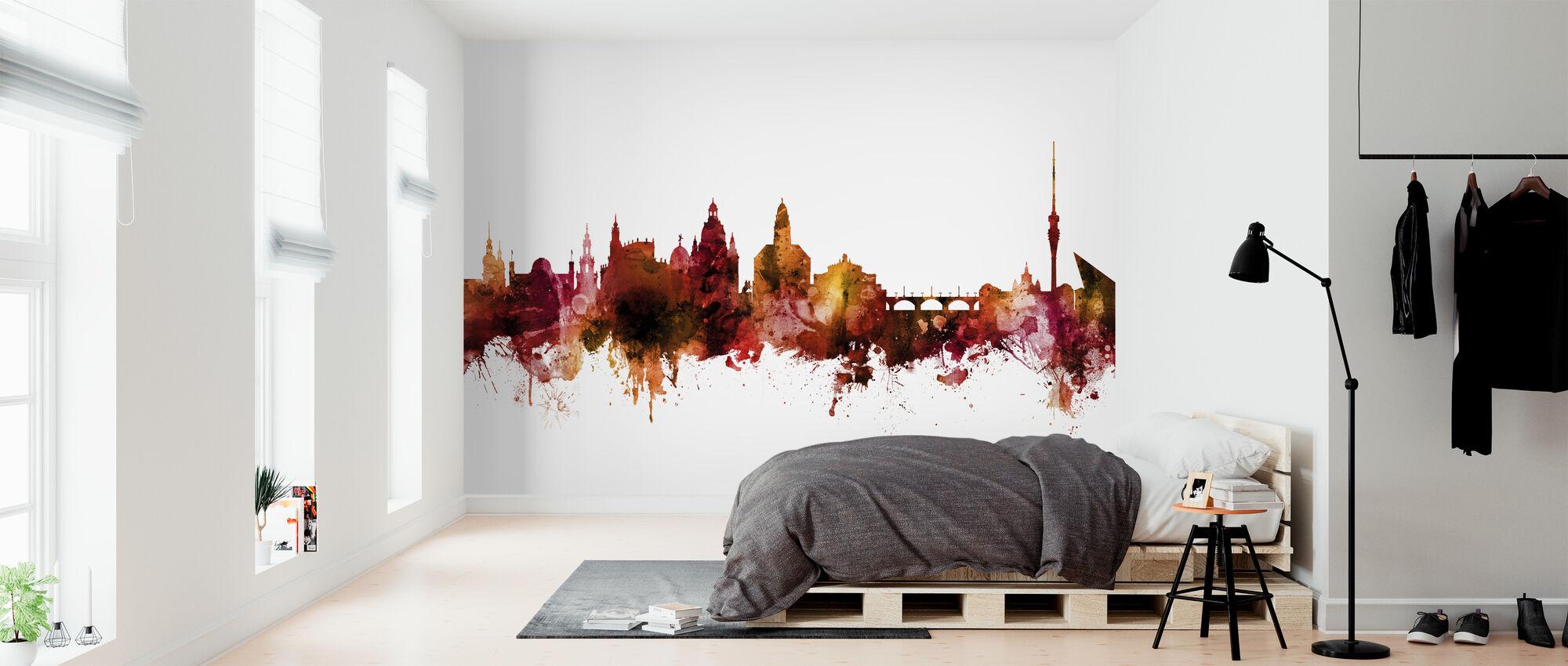 Dresden Skyline Deutschland - Tapete - Schlafzimmer