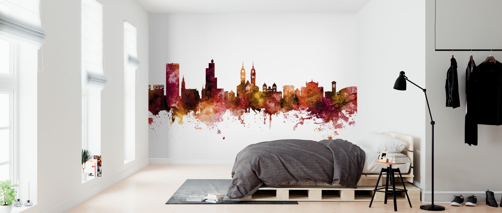 Winterthur Switzerland Skyline - Wallpaper - Bedroom