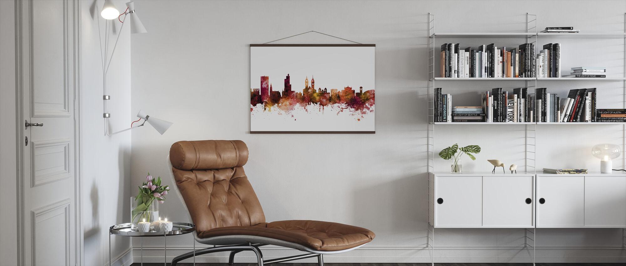 Skyline van Winterthur Zwitserland - Poster - Woonkamer