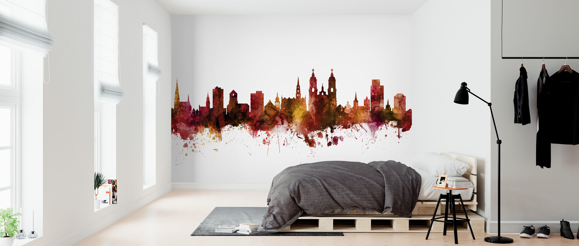 St Gallen Switzerland Skyline - Wallpaper - Bedroom
