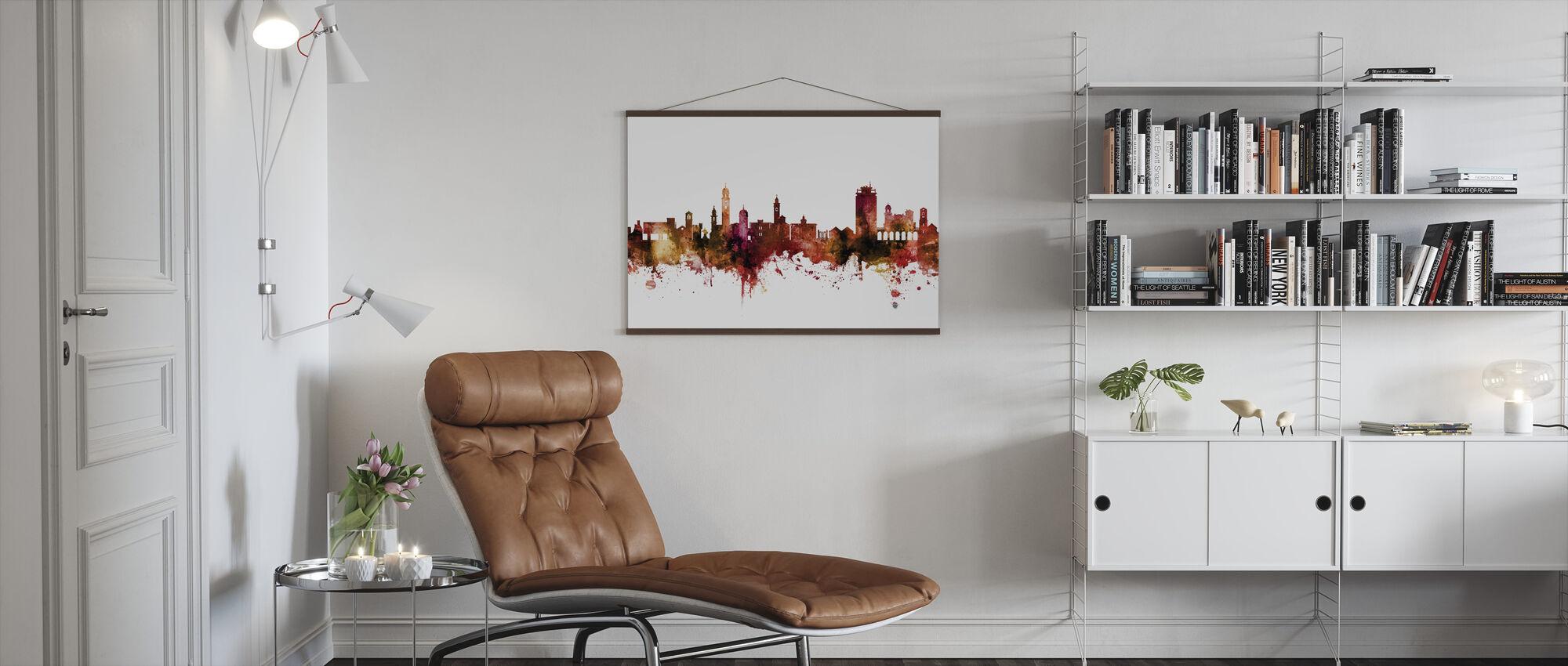 Lugano Zwitserland Skyline - Poster - Woonkamer