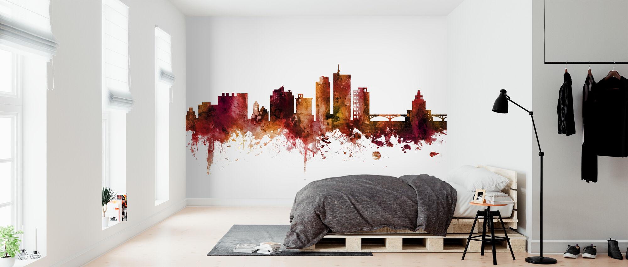 Cedar Rapids Iowa Skyline - Wallpaper - Bedroom