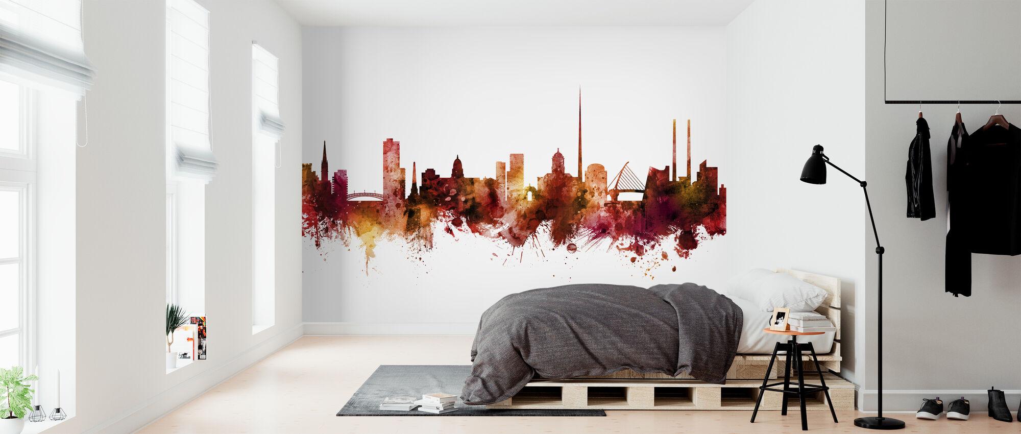 Dublin Ireland Skyline - Wallpaper - Bedroom