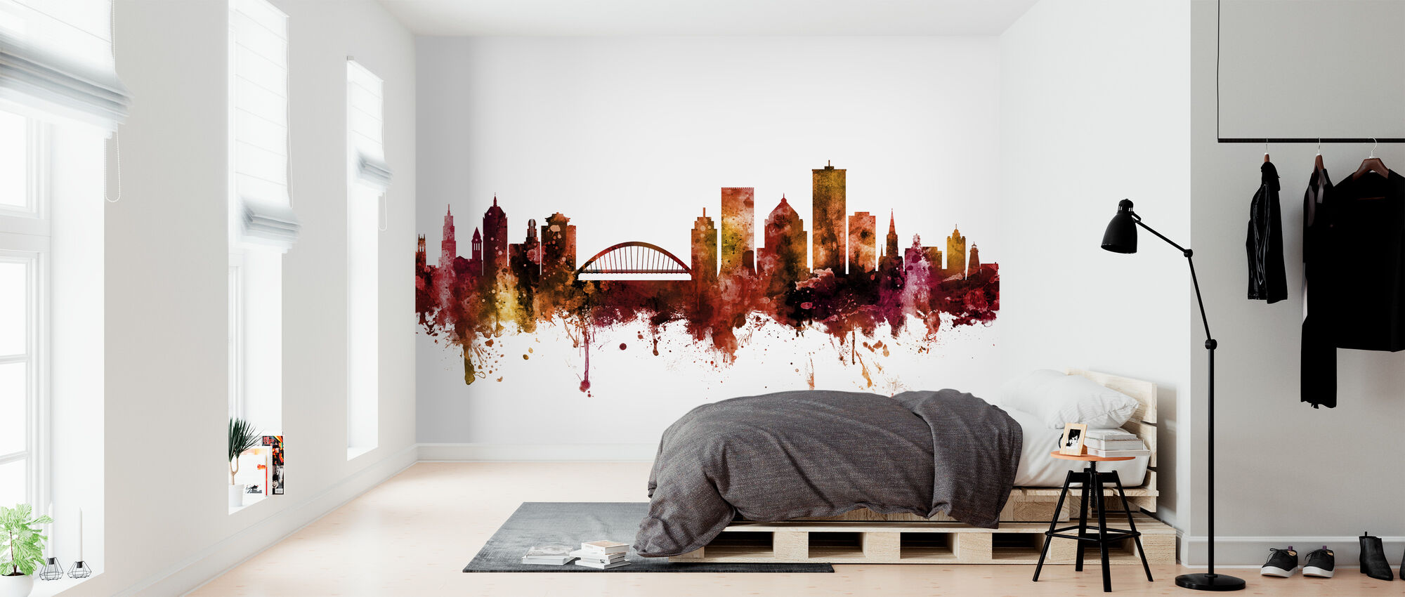Rochester New York Skyline - Behang - Slaapkamer