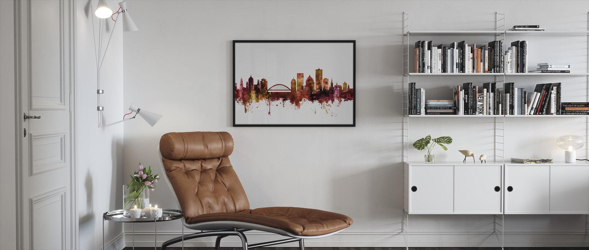 Rochester New York Skyline - Framed print - Living Room