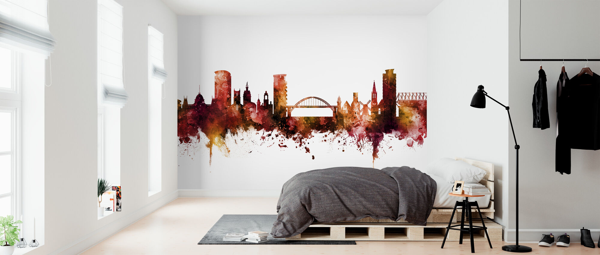 Sunderland England Skyline - Wallpaper - Bedroom