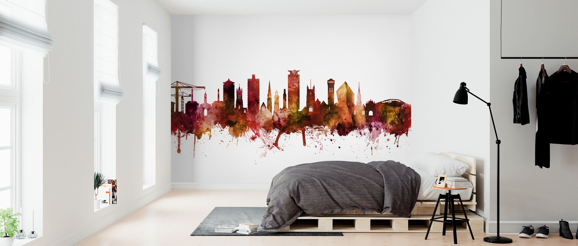 Plymouth England Skyline - Wallpaper - Bedroom