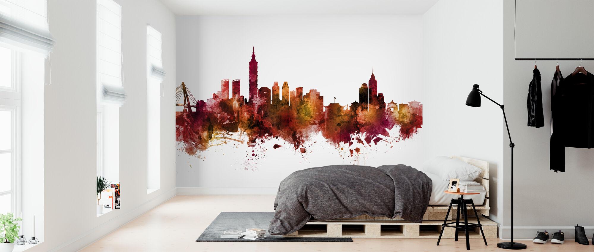 Taipei Taiwan Skyline - Wallpaper - Bedroom