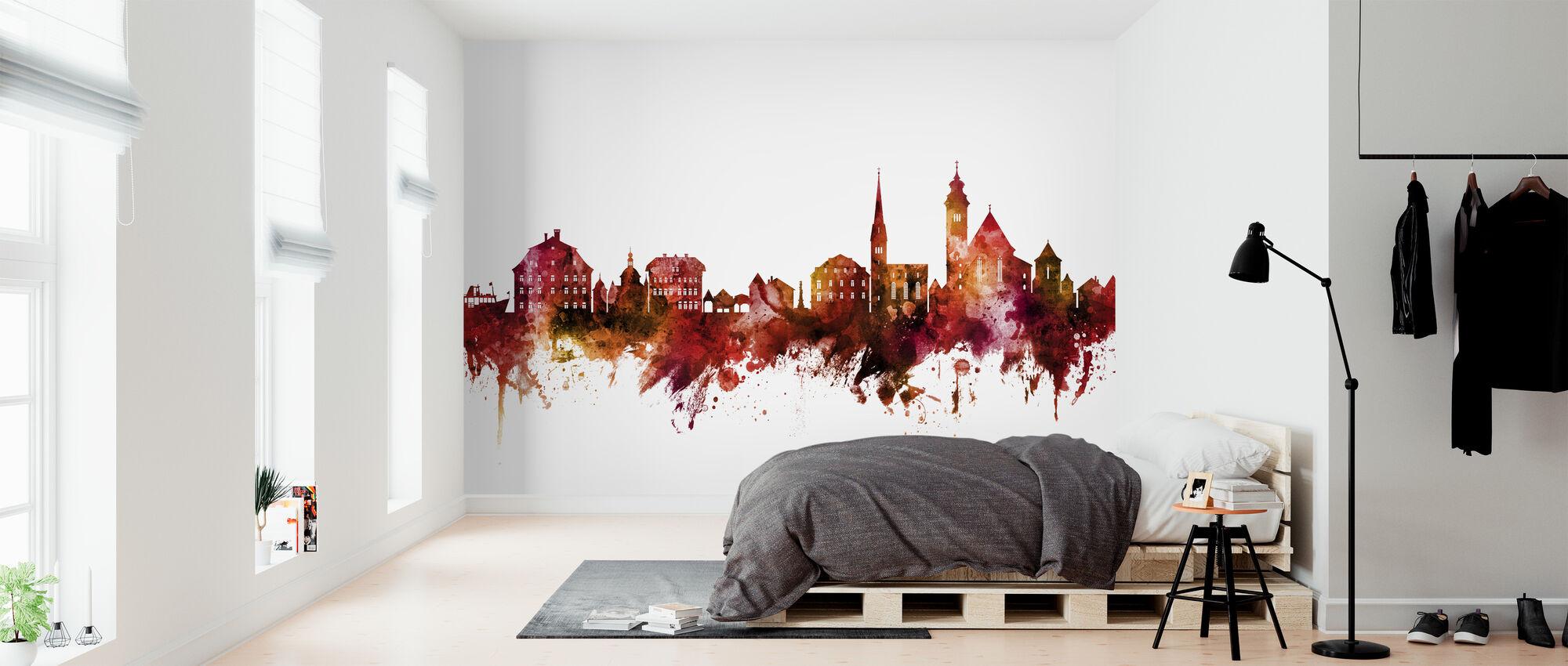 Hallstatt Austria Skyline - Wallpaper - Bedroom