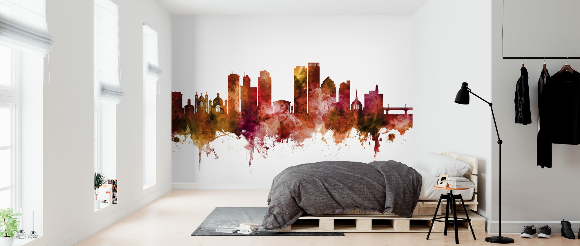 Dayton Ohio Skyline - Wallpaper - Bedroom