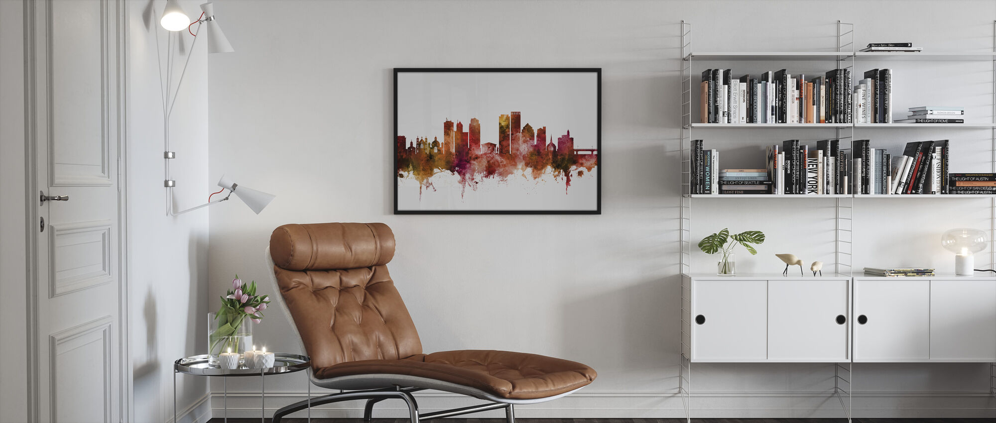 Dayton Ohio Skyline - Framed print - Living Room