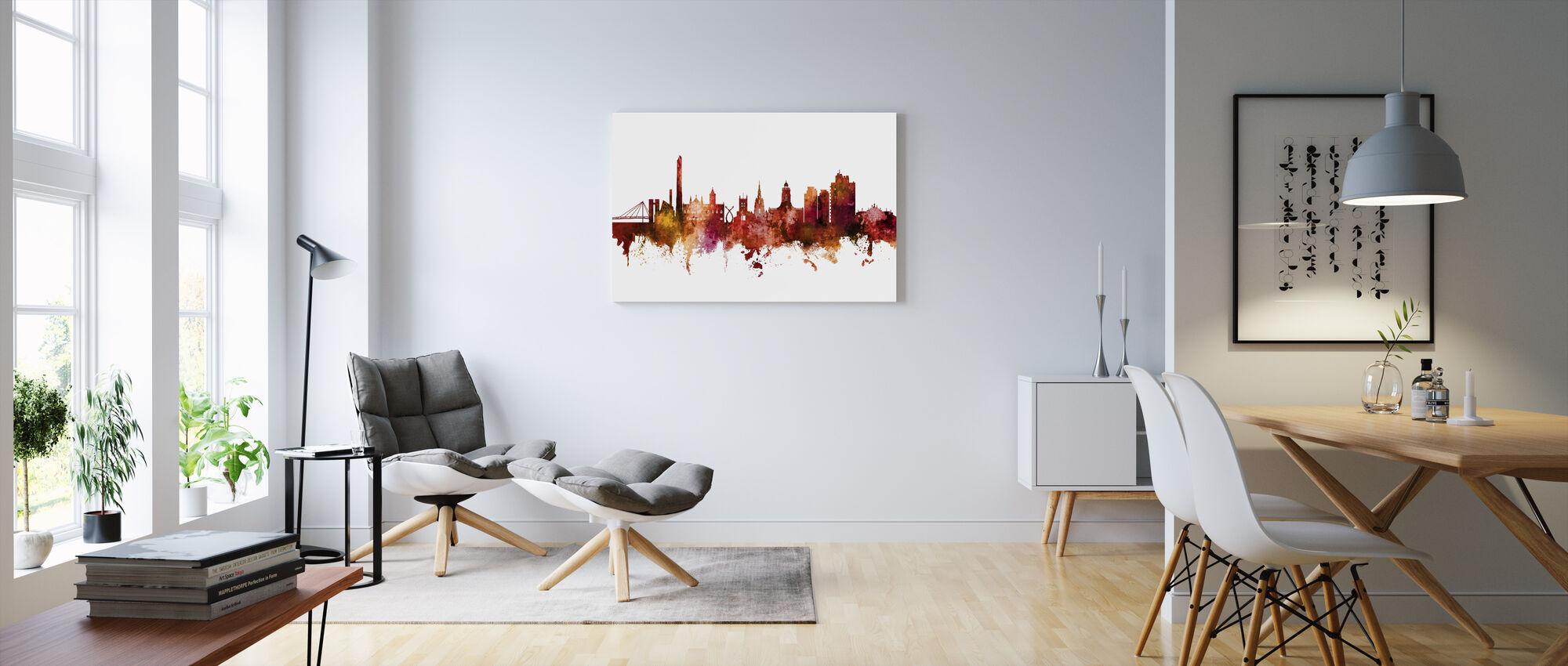 Northampton England Skyline - Canvas print - Living Room