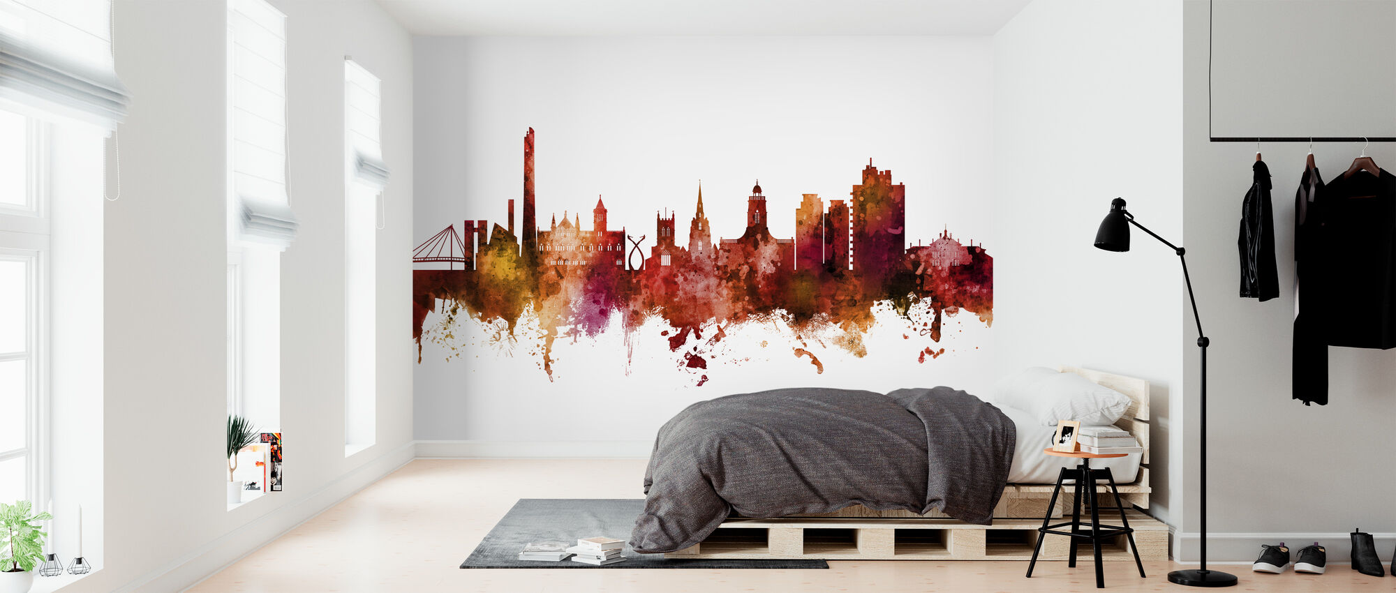 Northampton England Skyline - Wallpaper - Bedroom