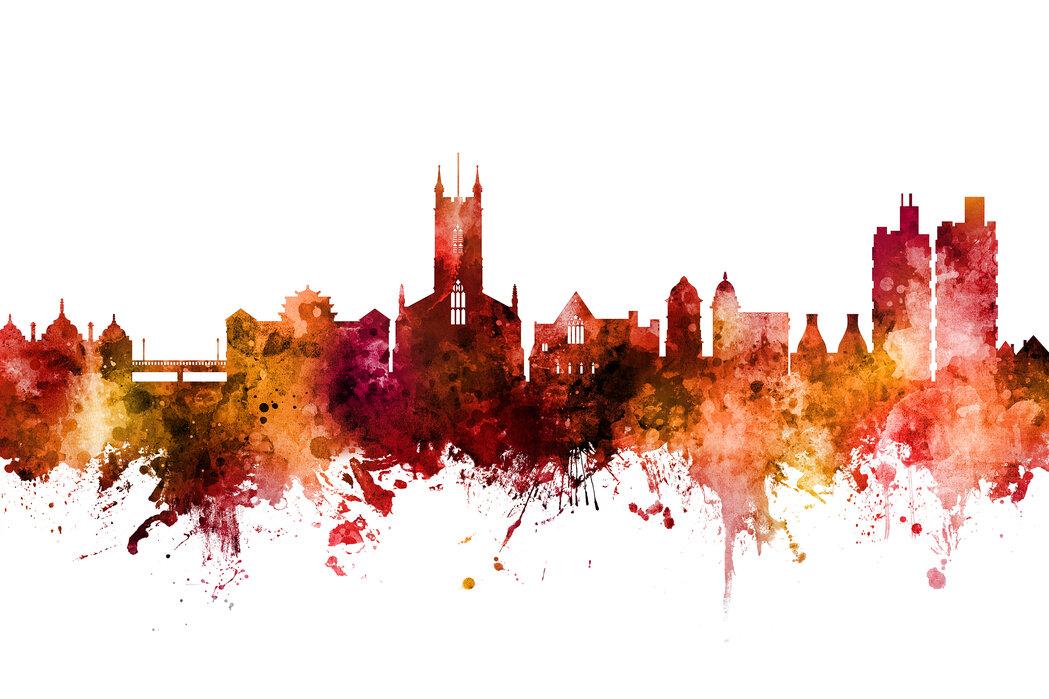 Stoke-on-Trent England Skyline - Canvas print